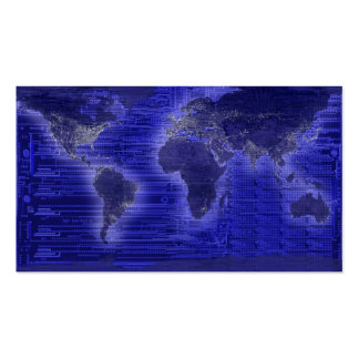 electric light world map Double-Sided standard business cards (Pack of 100)