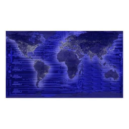 electric light world map business card