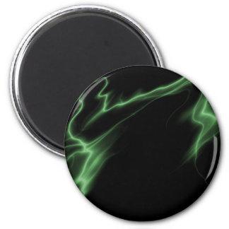 ELECTRIC LIGHTNING BLACK GREEN MAGNET