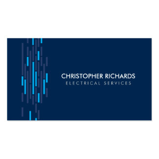 Electric Lights Blue Electrician Business Card