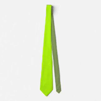 Electric Lime Green Color Decor Ready to Customize Tie