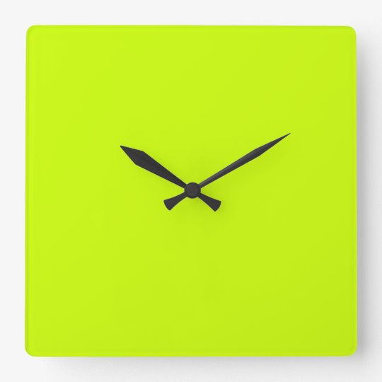 Electric Lime Green Wall Clock