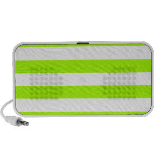 Electric Lime Horizontal Stripes; Striped Travelling Speaker