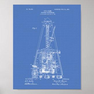 Electric Metronome 1903 Patent Art Blueprint Poster