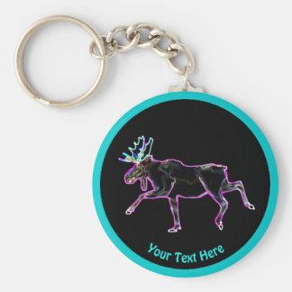 Electric Moose Key Ring