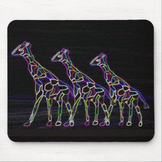 Electric Neon Giraffes Mouse Mat