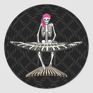 Electric Organ Classic Round Sticker