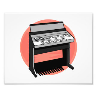 Electric Organ Peach Background Art Photo
