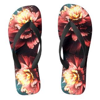 electric petal flip flops
