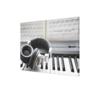 Electric Piano Keyboard Stretched Canvas Prints
