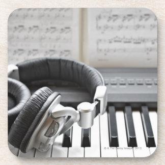 Electric Piano Keyboard Drink Coaster