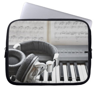 Electric Piano Keyboard Laptop Sleeves