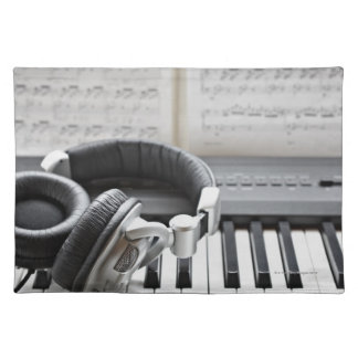 Electric Piano Keyboard Placemat