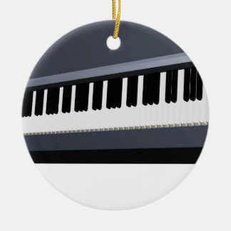 Electric piano keyboard round ceramic decoration