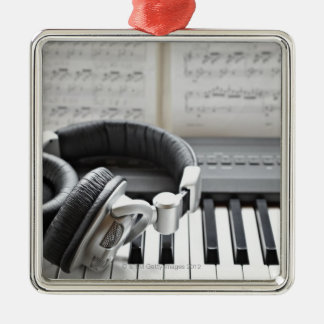 Electric Piano Keyboard Silver-Colored Square Decoration