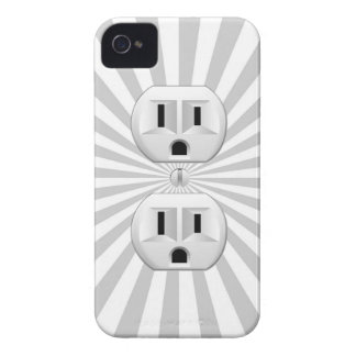Electric Plug Wall Outlet Fun Customize This! iPhone 4 Case-Mate Cases