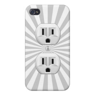 Electric Plug Wall Outlet Fun Customize This! Case For The iPhone 4