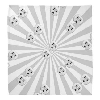Electric Plug Wall Outlet Fun Customize This! Head Kerchiefs