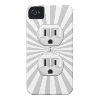 Electric Plug Wall Outlet Fun Customize This! iPhone 4 Case-Mate Case