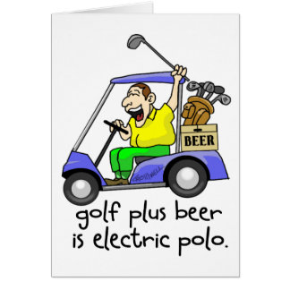 Electric Polo Greeting Card
