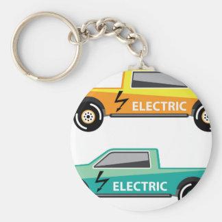 Electric power pickup basic round button key ring