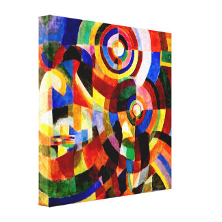 Electric Prisms by Sonia Delaunay Abstract Art Canvas Print