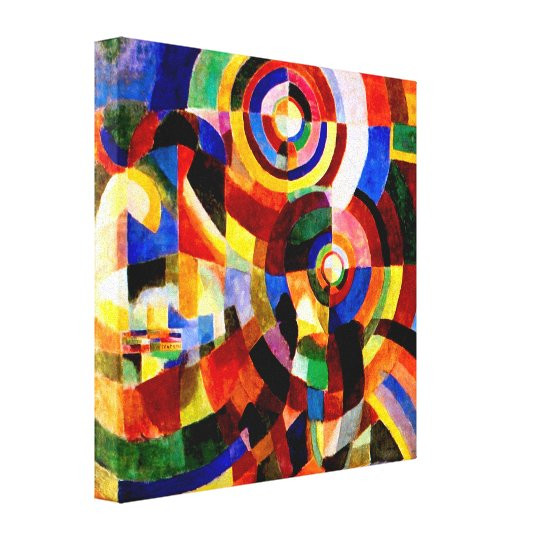 Electric Prisms by Sonia Delaunay Abstract Art Canvas