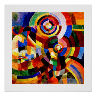Electric Prisms - Vintage Abstract Art by Delaunay Poster