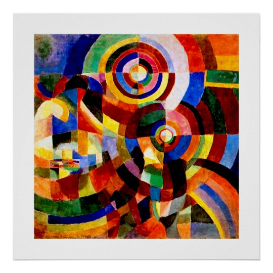 Electric Prisms - Vintage Abstract Art by Delaunay