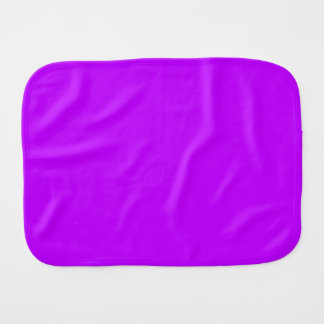 ELECTRIC PURPLE (a solid electrifying color) ~ Baby Burp Cloth