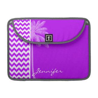 Electric Purple Chevron; zigzag; Palm Sleeves For MacBooks