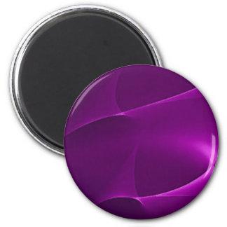 Electric Purple Swirls 6 Cm Round Magnet