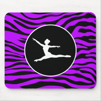 Electric Purple Zebra Stripes; Ballet Mouse Mat