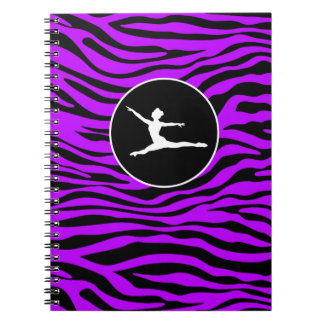 Electric Purple Zebra Stripes; Ballet Notebook