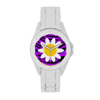 Electric Purple Zebra Stripes; Daisy Watches