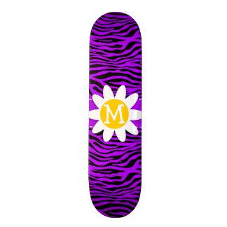Electric Purple Zebra Stripes; Daisy Skate Board Decks