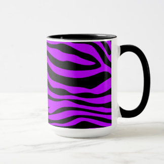 Electric Purple Zebra Stripes; Figure Skating Mug