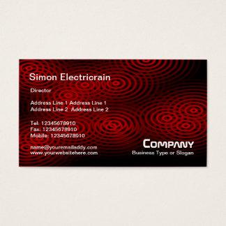 Electric Rain (Plain) - Red Business Card