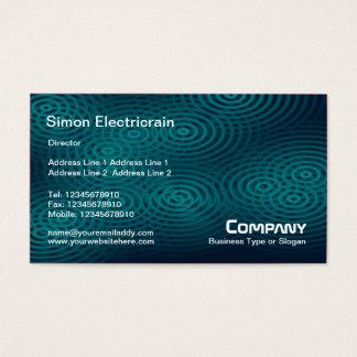 Electric Rain (Plain) - Teal Business Card
