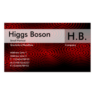 Electric Rain - Red - Customized Business Card Templates