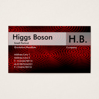 Electric Rain - Red - Customized Business Card