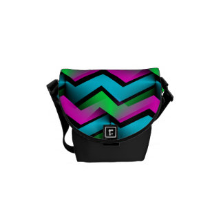 Electric Rainbow Courier Bag