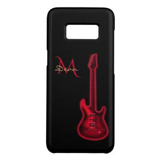 Electric Red Guitar Monogram Music Case-Mate Samsung Galaxy S8 Case