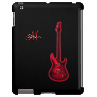 Electric Red Guitar Personalized iPad Case