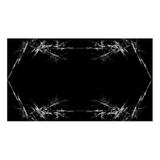 Electric Scratch. Black, White Fractal Art. Business Card Templates