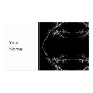 Electric Scratch. Black, White Fractal Art. Business Card