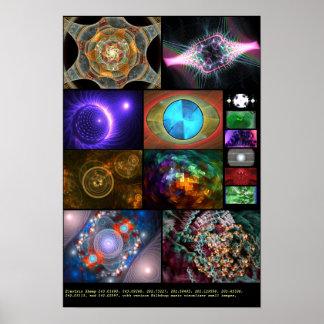 Electric Sheep + Milkdrop Various 4 Poster