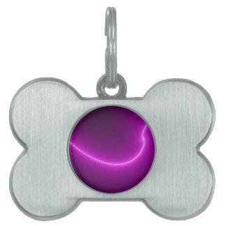 Electric Shock Fractal Pet Tag