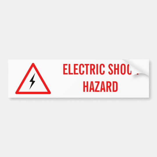 ELECTRIC SHOCK HAZARD BUMPER STICKER