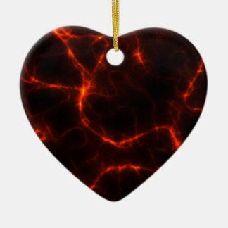 Electric Shock in Crimson Christmas Ornament